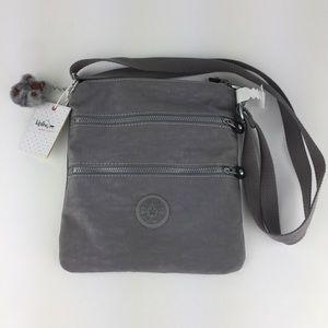 Kipling KEIKO Cool Grey Crossbody Mini Bag NWT